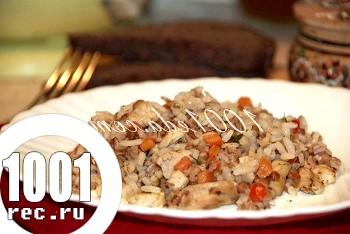 Рецепт смачної вечері з курячого філе з рисом і гречкою: рецепт з покроковим фото