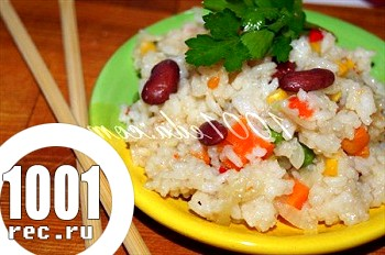 Рис з овочами і соєвим соусом: рецепт з покроковим фото