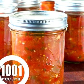 Салат з баклажанів, помідорів, перцю на зиму