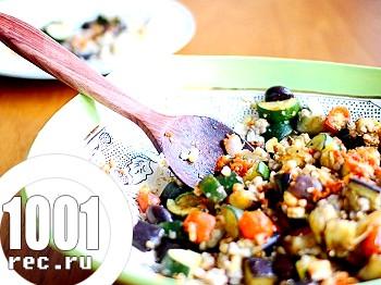 Салат з баклажанів з гречкою на зиму