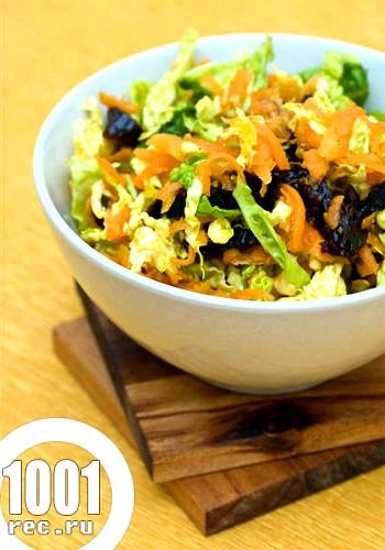 Салат з білокачанної капусти з чорносливом