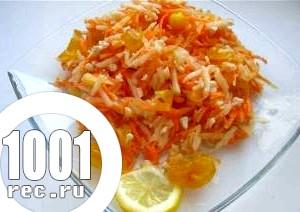 Салат з яблук і моркви «Сочинський».