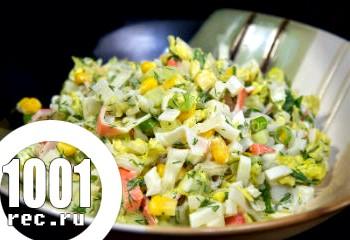 Салат з капусти і крабових паличок