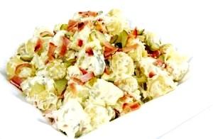 Салат з картоплі і шинки «Натюрель».