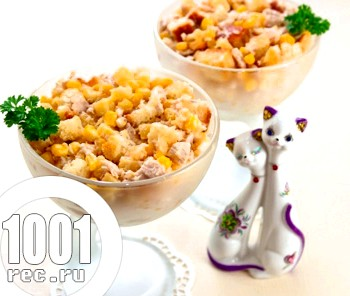 Салат з кукурудзи і курки