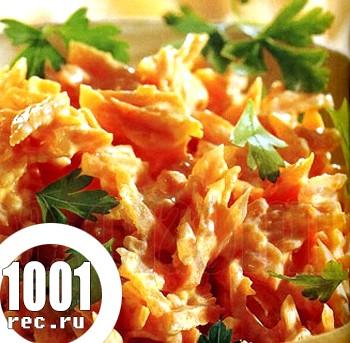 Салат з курки з морквою