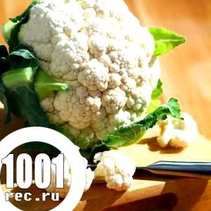 Салат з макаронів, грибів і цвітної капусти «Фантазія».