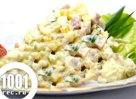 Салат з макаронів і копченої скумбрії «Балтика».