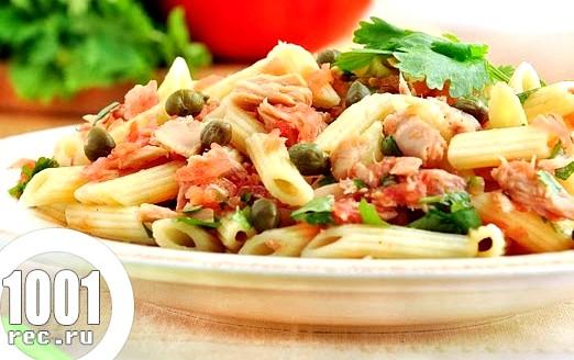 Салат з макаронів і тунця «Рибацький».