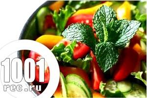 Салат з овочів і шинки «На здоров'я».