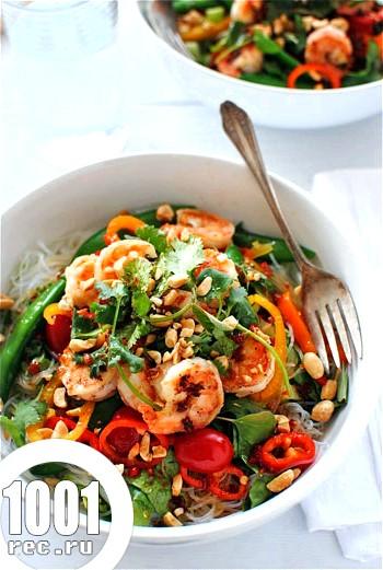 Салат з овочів з креветками