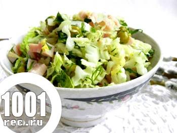 Салат з пекінської капусти з шинкою