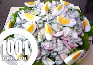 Салат з редису і зелених овочів «Весняний».
