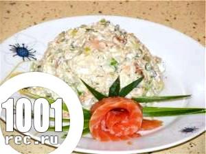 Салат з рису і лосося «Далекосхідний».