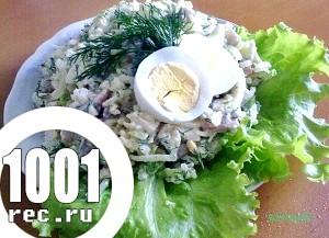 Салат з рису і зеленого лука «Зелень».