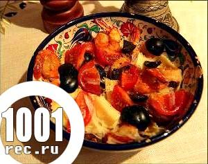 Салат з ріжків і маслин «Дієтичний».