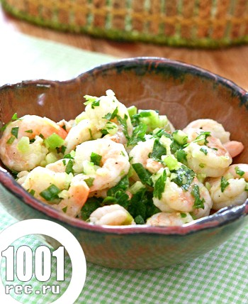Салат із селери з креветками