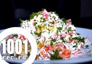 Салат з солодкого перцю з майонезом і овочами.