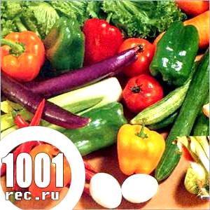 Салат з солодкого перцю з овочами.