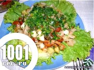 Салат із солоних грибів та шинки «смакота»