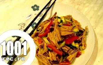 Салат зі спаржі по-корейськи