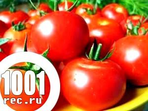 Салат зі свіжих помідорів і гірчиці.