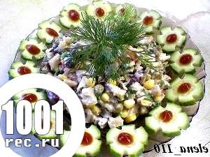 Салат з шинки і м'яса «Волоський».