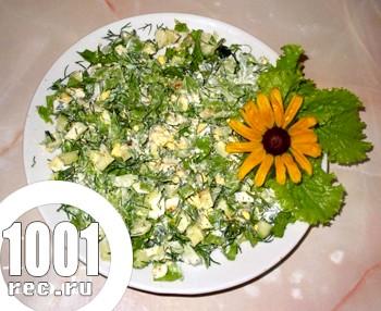Салат яєчний з огірком: рецепт з покроковим фото