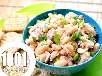 Салат з білою квасолею і куркою