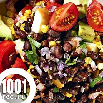 Фото - Рецепт салату тако з чорної квасолі і кукурудзи