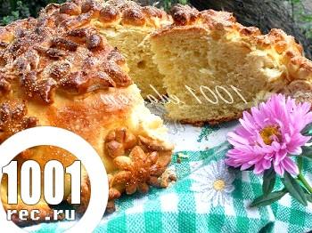 Здобний хліб-коровай: рецепт з покроковим фото