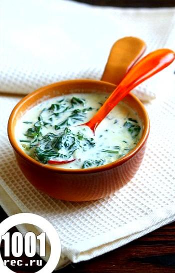 Фото - Рецепт вершкового соусу зі шпинатом до м'яса