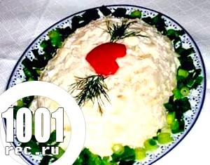 Листковий салат з рибою