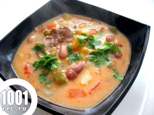 Суп з квасолі дитячий.