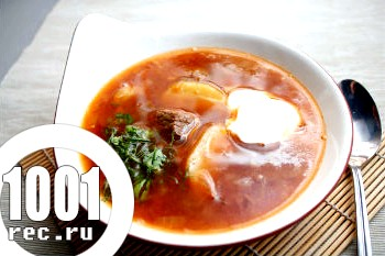 Суп з яловичини в мультиварці