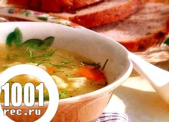 Суп з галушками і картоплею