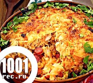 Свиняча запіканка з тархоня, овочами і сметаною