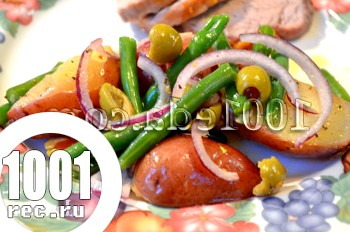 Теплий картопляний салат із зеленою квасолею: рецепт з покроковим фото