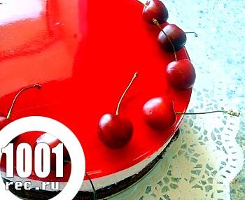 Торт-мус з желе з черешень