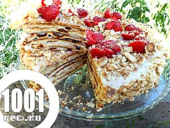 Торт на сковорідці: рецепт з покроковим фото
