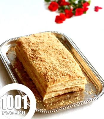 Торт Наполеон із заварним кремом