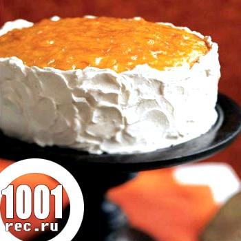Торт з апельсиновим джемом