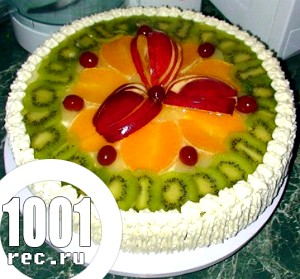 Фото - торт з фруктами в желе
