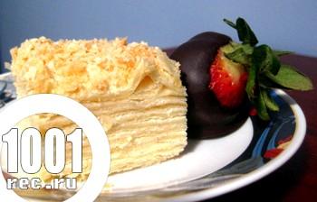 Торт Сирний Наполеон