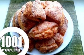 Сирне печиво Лапки до Нового Року