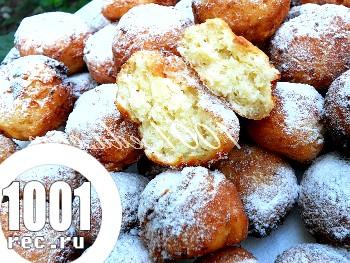 Сирні пончики: рецепт з покроковим фото
