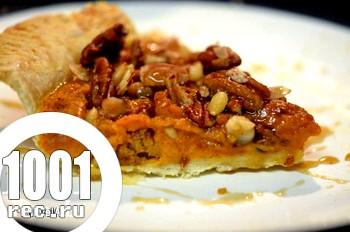 Гарбузовий пиріг з кленовим сиропом і горіхами: рецепт з покроковим фото