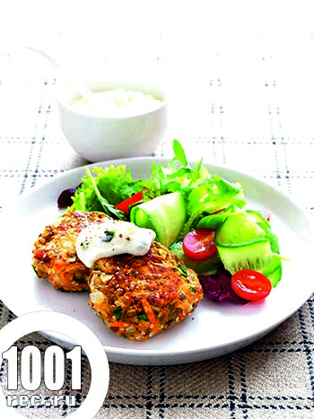 Вегетаріанські котлети з сочевиці
