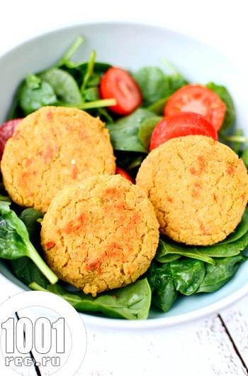 Вегетаріанські котлети з геркулесу