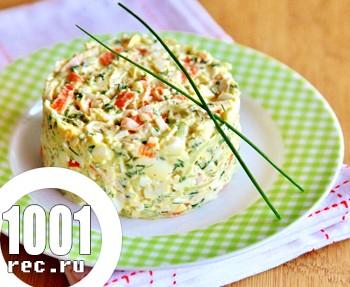 Весняний салат з крабовими паличками